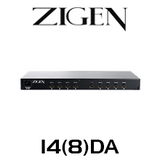 Zigen 1 to 4/8 Outputs HDMI Distribution Amplifier