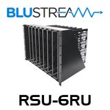 BluStream RSU-6RU Universal 6RU Rack Shelf Unit with 8x Vertical Blade Shelves