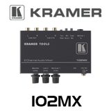 Kramer 102MX 2-Channel Stereo Audio Mixer