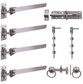 "24"" S/Steel Adjustable H&B Hinge Kit"