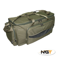 big Green Carryall Holdall Fishing Tackle Bag Insulated + Padded Strap carp