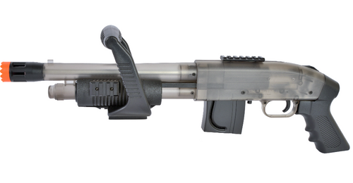 Mossberg Chainsaw Shotgun in clear