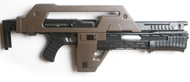 Snow Wolf M41A Pulse Rifle AEG - The Alien Gun in Tan