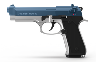 Retay MOD92 - Blank Starting Pistol in Chrome With Blue (9mm)