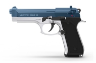 Retay MOD92 - Blank Starting Pistol in Nickel With Blue (9mm)