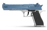 Retay Desert Eagle XU - Blank Starting Pistol in Nickle & Blue (9mm)