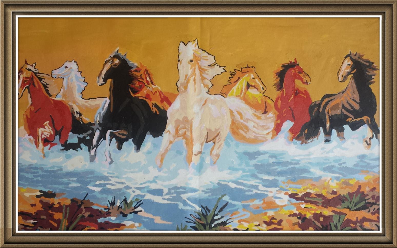8 horses