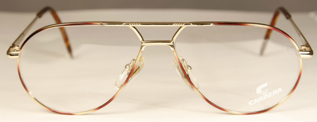 Aviator style prescription glasses for a square face shape