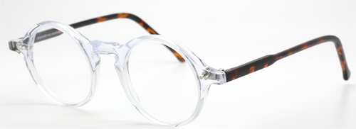 Preciosa Round Acetate Eyewear 786 Clear And Tortoiseshell At The Old Glasses Shop