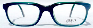 Vintage Gianni Versace B71 Rectangular Green Acrylic Eyewear At The Old Glasses Shop