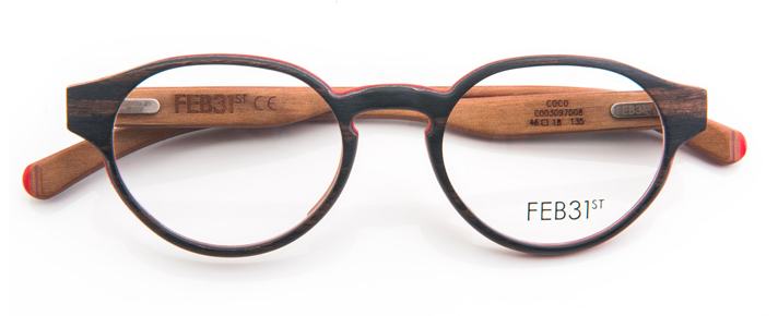 Coco by Feb31st | Handmade wooden Glasses | Round Wood Glasses ...