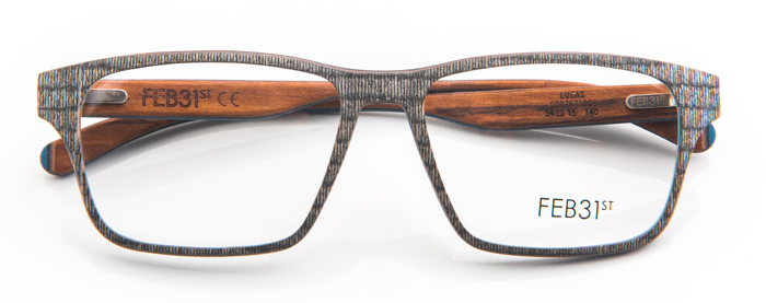 6e1fd0f7702 Hand Made To Order In Italy Layered Wood Eyewear by FEB31st Model LUCAS