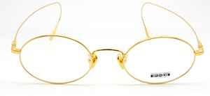 Gold Plated Vintage Style Oval Titanium Frame By Les Pieces Uniques At The Old Glasses Shop