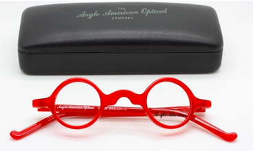 Anglo American Groucho OP2 Glasses In Red Acrylic At www.theoldglassesshop.co.uk