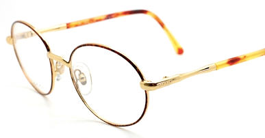Vintage Gucci 2252 Gold & Tortoiseshell Effect Eyewear At The Old Glasses Shop Ltd