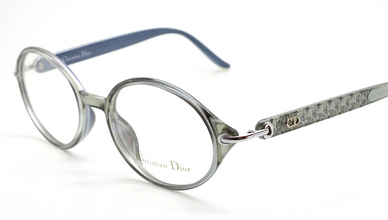Christian Dior Designer Round Style Grey Acrylic Eyewear At The Old Glasses Shop Ltd