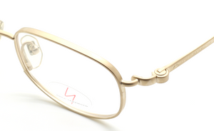 Old Fashioned Rectangular Spectacles In A Matt Gold Finish By Yamamoto At www.theoldglassesshop.co.uk