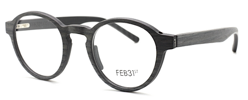 Designer Italian Glasses By Feb31st In Grey And Granite