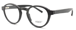 Designer Italian Glasses By Feb31st In Grey And Granite