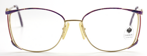 Vintage Fabergé Lunettes Beautifully detailed Gold, Purple, Blue and Pink Ladies Eyewear