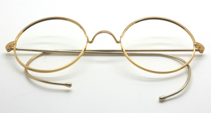Classic NHS style round glasses with hooked earpieces