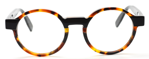 Designer Italian Round Glasses In Tortoiseshell Effect At www.theoldglassesshop.co.uk
