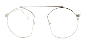 Agropoli Round Style Metal Silver Original Vintage Spectacles www.theoldglassesshop.co.uk