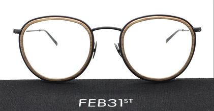 Feb31st THOMAS Wood & Metal Combination Eyewear At The Old Glasses Shop
