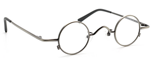 Very small spectacles in a silver finish by Beuren at www.theoldglassesshop.co.uk