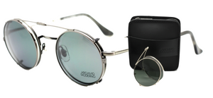 2 in 1 Archivio Moderno Luxury Light Silver & Tortoiseshell Eyewear + Adjustable Arms + Clip Ons 2001 03