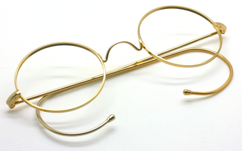 Vintage Small Round Spectacles With Saddle Bridge & Curlsides At The Old Glasses Shop