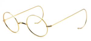 Sought-After Vintage Round Style Shiny Gold Metal Eyewear At The Old Glasses Shop