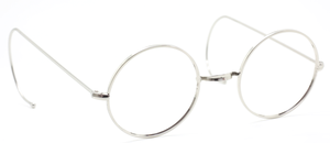 NHS Style Vintage Round Eyewear With Saddle Bridge & Curlsides At The Old Glasses Shop