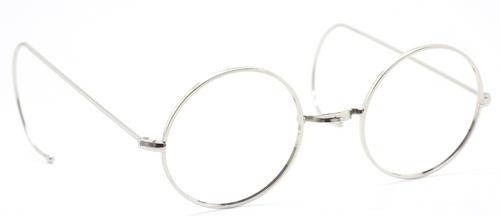 NHS Style Vintage Round Eyewear With Saddle Bridge & Curlsides At The Old Glasses Shop