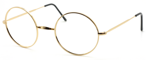 40mm True Round Vintage Spectacles With Warwick Bridge By Beuren At The Old Glasses Shop