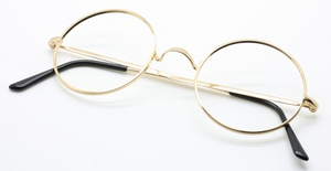 Savile Row Style True Round Vintage Spectacles At The Old Glasses Shop