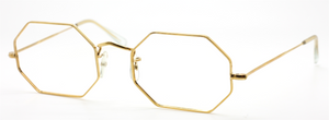 Metal 12kt Gold Filled Hexagonal Glasses By Savile Row At www.theoldglassesshop..co.uk