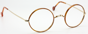 Vintage True Round Gold Eyewear With Demi-Blonde Acrylic Rims At The Old Glasses Shop