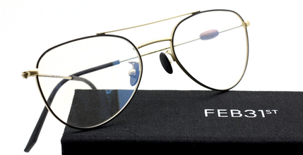 Feb31st STEINER Shallow Aviator Eyewear Hand Made In Italy From The Old Glasses Shop