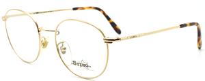 Vintage Designer Italian Sting Eyewear 'College' By Dierre Panto Shaped Shiny Gold Glasses 47mm