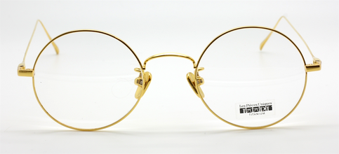 Cloud 13 Round Titanium Gold Plated Eyewear By Les Pieces Uniques At The Old Glasses Shop