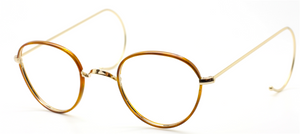 Vintage Panto Shaped Eyewear With Demi Blonde Rims, Saddle Bridge & Curlsides At The Old Glasses Shop