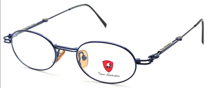 Tonino Lamborghini 084 Oval Blue Eyewear At The Old Glasses Shop