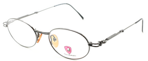 Tonino Lamborghini 084 Oval Metallic Grey Eyewear At The Old Glasses Shop