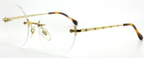 Round Rimless Vintage Eyewear  By Fendai VL 7093 At The Old Glasses Shop
