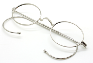 Vintage Oval Eyeglasses With Warwick Bridge & Curlsides At The Old Glasses Shop