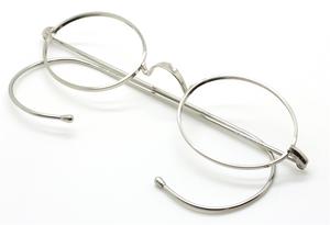 Vintage Oval Eyeglasses With Warwick Bridge & Curlsides At The Old Glasses Shop