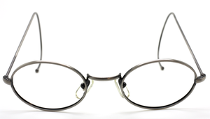Oval Antique Silver Eyewear With Curlsides By Beuren At The Old Glasses Shop