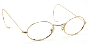 Vintage Oval Shiny Gold Eyewear With Curlsides By Beuren At The Old Glasses Shop