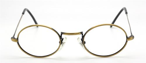Antique Gold Vintage Oval Eyewear By Beuren At The Old Glasses Shop